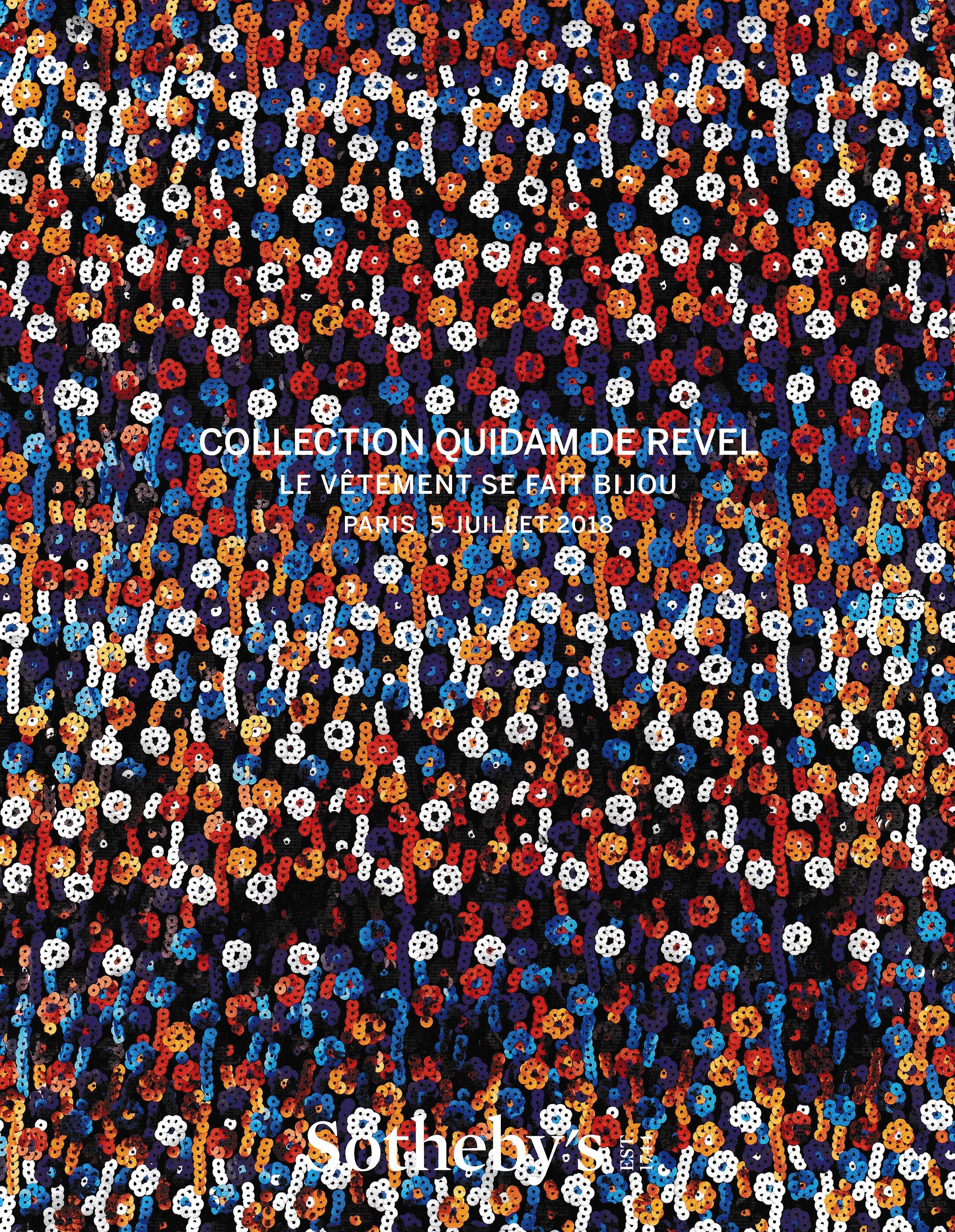 """Sotheby's - Collection Quidam de Revel """"Le vêtement se fait bijou"""" (2018)"""